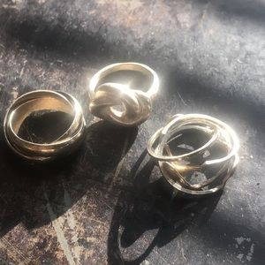 Lot of 3 Rings /Vintage 90s/Faux Silver🖤
